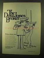 1970 Dow Jones Ad - He Has a Clearer View