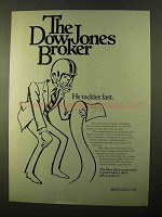 1970 Dow Jones Ad - He Tackles Fast