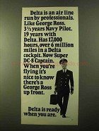1970 Delta Airlines Ad - Professional Like George Ross