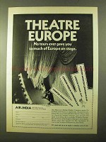 1970 Air India Airlines Ad - Theatre Europe