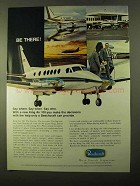 1970 Beechcraft King Air 100 Plane Ad - Be There!