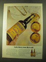 1970 Taylor Sherry Ad - Some Like it Cold
