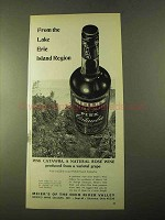 1970 Meier's Pink Catawba Rose Wine Ad - Lake Erie