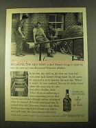 1970 Jack Daneil's Whiskey Ad - Recalling the Old Days