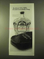 1970 Seagram's Crown Royal Ad - Not Everybody's Bag