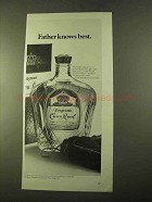 1970 Seagram's Crown Royal Ad - Father Knows Best