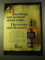 1970 Seagram's 100 Pipers Scotch Ad - Tell About a Man