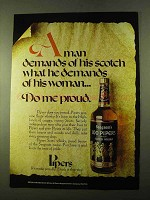 1970 Seagram's 100 Pipers Scotch Ad - Do Me Proud