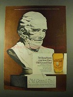 1970 Old Grand Dad Bourbon Ad - 716 Bourbons Cost Less
