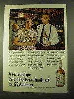 1970 Jim Beam Bourbon Ad - A Secret Recipe