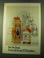 1970 Jim Beam Bourbon Ad - Rare Gift for 175 Decembers