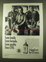 1970 Jim Beam Bourbon Ad - Same Family. Same Formula