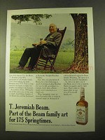 1970 Jim Beam Bourbon Ad - T. Jeremiah Beam