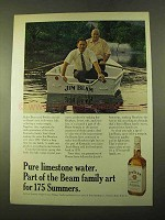1970 Jim Beam Bourbon Ad - Pure Limestone Water