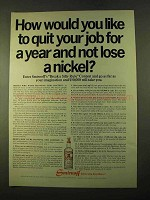 1970 Smirnoff Vodka Ad - Like To Quit Your Job