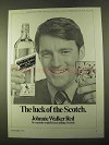 1970 Johnnie Walker Red Label Scotch Ad - The Luck of