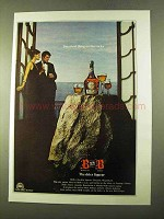 1970 Benedictine B&B Liqueur Ad - Smartest on Rocks
