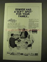 1970 Ramada Inn Ad - A Soft Spot for Your Family