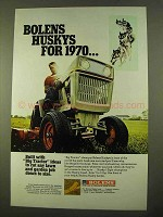 1970 Bolens Husky Tractor Ad - Cut Down To Size