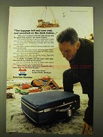 1970 American Tourister Luggage Ad - Smashed On Dock