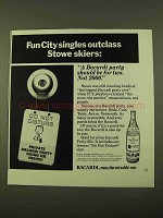 1970 Bacardi Rum Ad - Fun City Singles Outclass