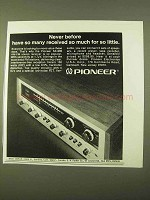 1970 Pioneer SX-990 AM-FM Stereo Receiver Ad