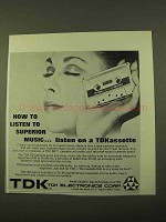 1970 TDK SD Cassette Ad - Listen to Superior Music