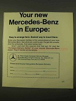 1970 Mercedes-Benz Car Ad - In Europe