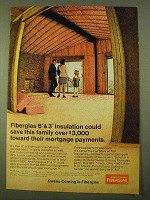 1970 Owens-Corning Fiberglas Ad - Save over $3,000