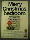 1970 Du Pont Lucite Wall Paint Ad - Merry Christmas