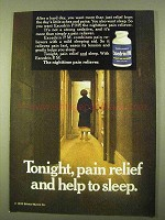 1970 Excedrin P.M. Pain Reliever Ad - Help to Sleep