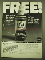 1970 Borden Kava Instant Coffee Ad - Mail a Label