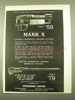 1970 Mark X Mauser Action Ad - High Quality