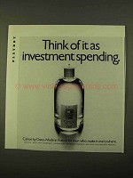 1970 Dana Canoe Cologne Ad - Investment Spending
