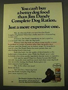 1970 Jim Dandy Complete Dog Ration Ad
