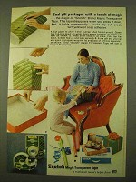 1970 3M Scotch Magic Transparent Tape Ad - Seal Gift