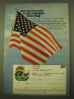 1970 3M Scotch Tape Ad - Fly a Bright New Flag