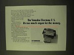 1970 Yamaha Electone E-3 Organ Ad - It's Too Much