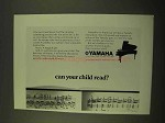 1970 Yamaha Piano Ad - Can Your Child Read?