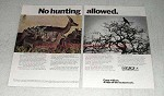 1970 SAA South African Airways Ad - No Hunting Allowed