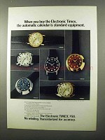 1971 Timex Electronic Watch Ad - 965601, 966701, 965701