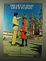 1971 Spain Tourism Ad - The Art of Spain Live It