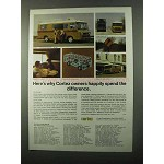 1971 Cortez Motor Homes Ad - Happily Spend Difference