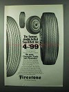 1971 Firestone Sup-R-Belt Tires Ad - Famous
