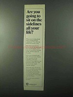 1971 United Way Ad - Sit On the Sidelines All Your Life