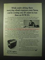 1971 SCM 211 Copier Ad - Worrying About Expenses