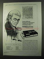 1971 Norelco 84 Executive Dictater Ad, Thomas Jefferson
