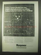 1971 Manpower Technical Services Division Ad - Teddy