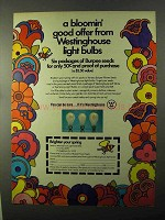 1971 Westinghouse Light Bulbs Ad - Bloomin' Good Offer