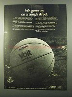 1971 AMF Voit Basketball Ad - Grew up on Rough Street